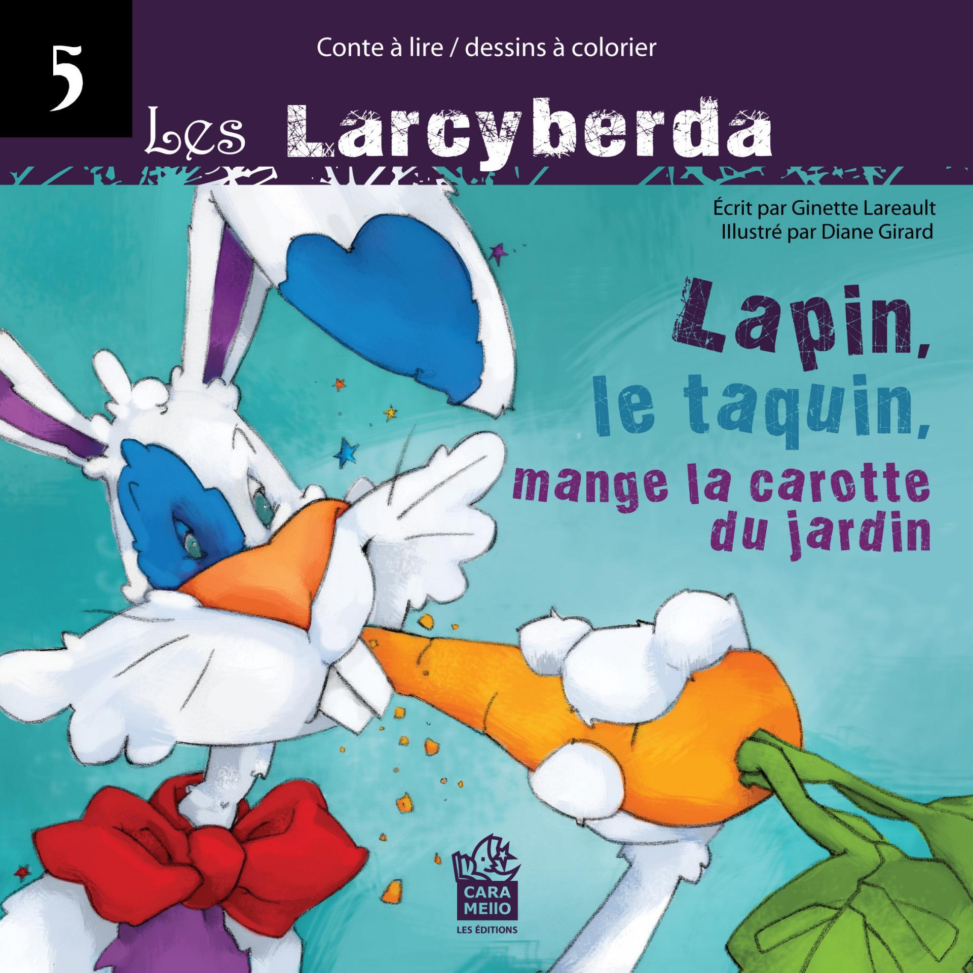 Lapin, le taquin mange la carotte du jardin